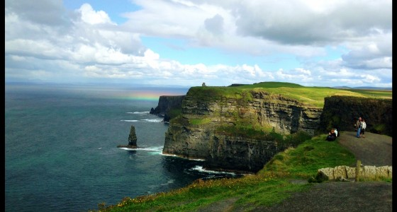 cliff of Moher rainbow