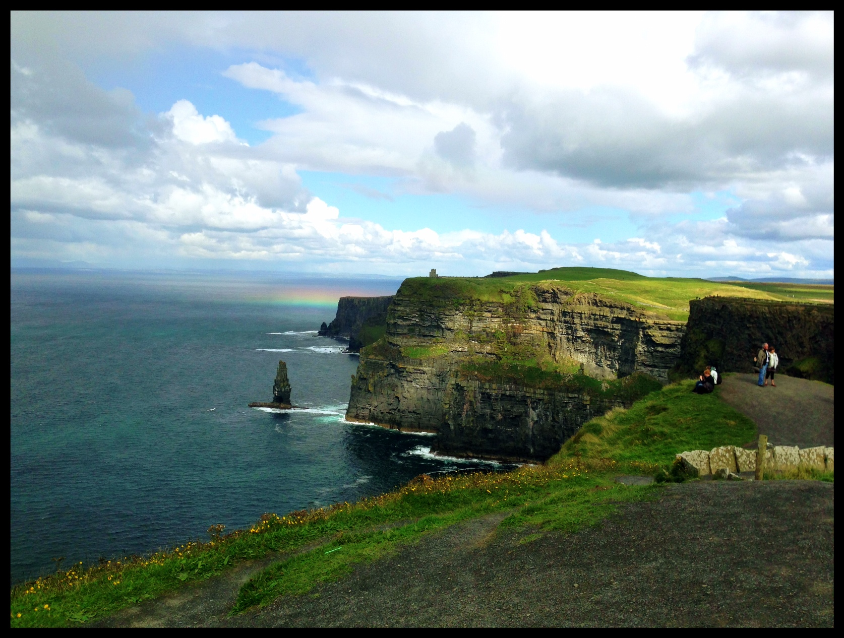 cliff of Moher rainbow