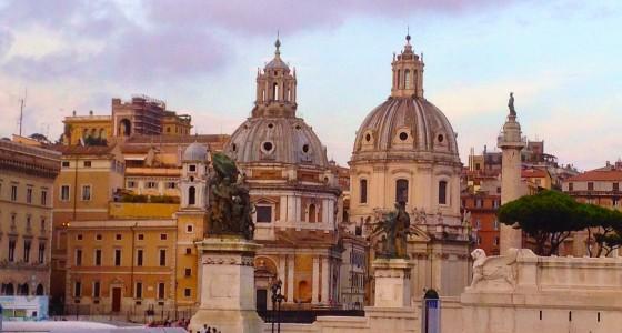 Rome church domes