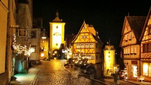 Christmas Markets lights in Rothenburg