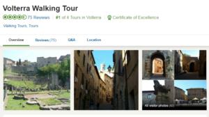 47 Annie Adare, walking tour of Volterra
