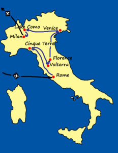 Map- Best of Italy Tour
