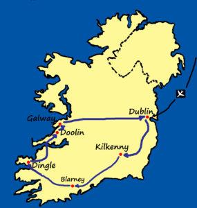 Taste O Ireland Map