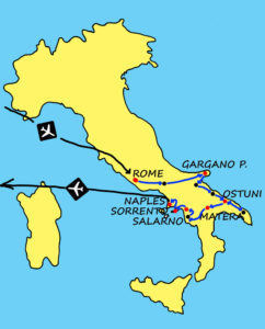 Best of Southern Italy Map