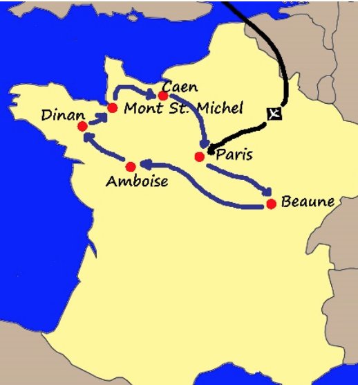 Amboise France Map.The Best Of France